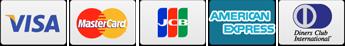 VISA・MasterCard・JTB・AmericanExpress・DinersCulb